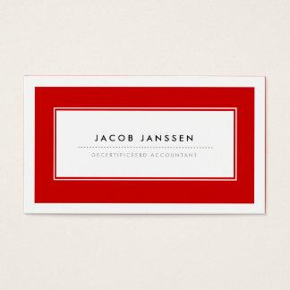 Moderne Rood Visitekaartjes