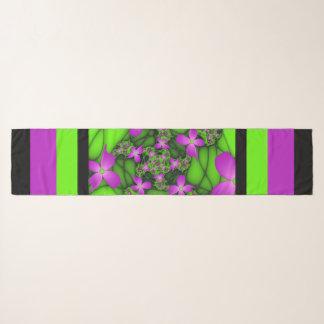 Moderne Roze Groene Fractal van het Abstracte Neon Sjaal