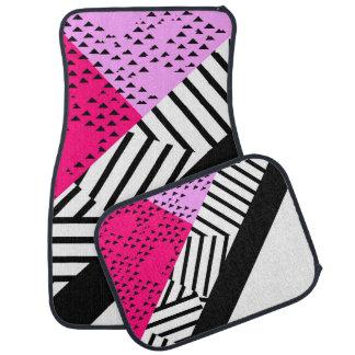Moderne Roze, Zwarte, & Witte Geometrisch van Automat