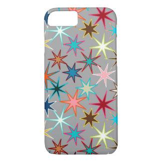 Moderne Starburst Druk, de Kleuren van het Juweel iPhone 8/7 Hoesje
