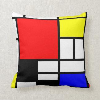 Moderne stijl 3 van Mondrian van neo-Plasticism Sierkussen
