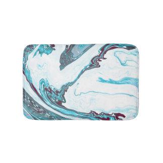 Moderne trendy witte en blauwe marmeren badmat