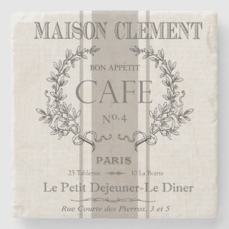 moderne vintage Franse koffie Stenen Onderzetter