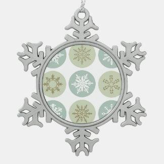 moderne vintage sneeuwvlokken tin sneeuwvlok ornament