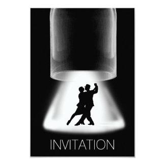 Moderne Vip van de Dans van de tango Latijnse 8,9x12,7 Uitnodiging Kaart
