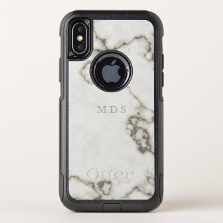 Moderne Witte MarmeriPhone X OtterBox