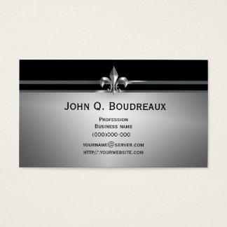 Moderne Zilveren Black Fleur DE Lis Visitekaartjes