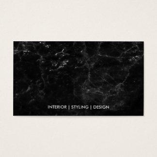 Moderne zwarte marmeren luxe faux gouden beroeps visitekaartjes