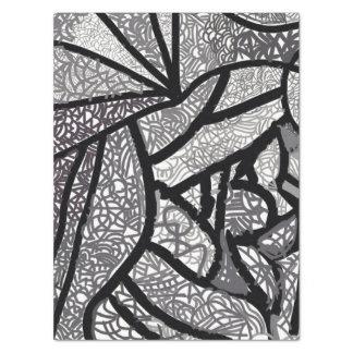 Moderne Zwarte & Witte Geometrisch 50,8 X 76,2 Cm Tissue Papier