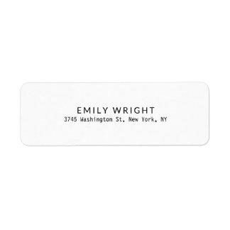 Moderne Zwarte & Witte Minimalistische Beroeps Etiket