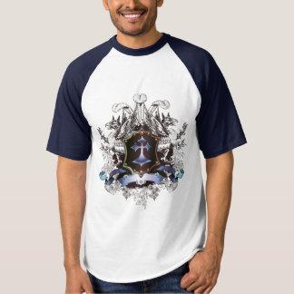 Modieus blauw DwarsOntwerp T Shirts
