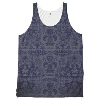 Modieus-dag-aan-nacht--Damask-Navy-Dusk*-Tank-Top All-Over-Print Tank Top