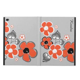 Modieus Koraal en Grijze BloemenLucht 2 van iPad