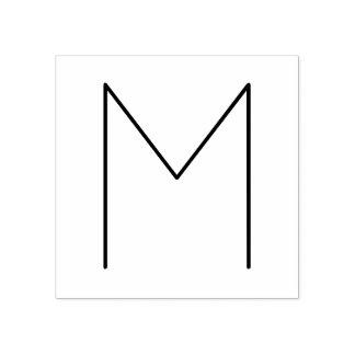 Modieus Modern Minimalistisch Monogram Rubberenstempel