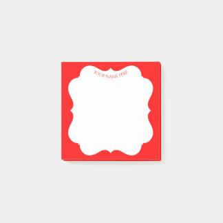 Modieus rood vakantielijst met uw naam post-it® notes