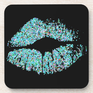 Modieus schitter Lippen #2 Drankjes Onderzetters
