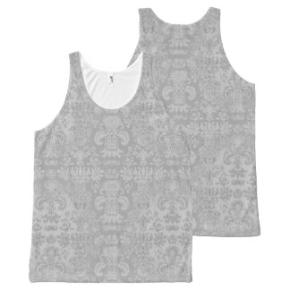 Modieus-zilver--Damast-vrouw-tank-bovenkant All-Over-Print Tank Top
