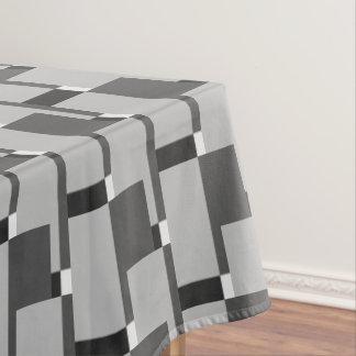 Modieus Zwart Wit Zilveren Grijs Patroon Tafelkleed