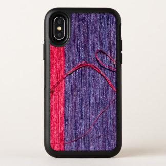 Modieuze Blauwe en Rode Verse Met de hand gemaakte OtterBox Symmetry iPhone X Hoesje