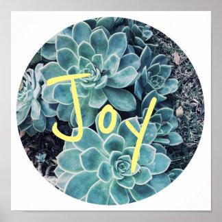 Modieuze Bleek - het groene Poster van de Vreugde
