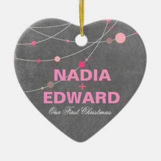 Modieuze Bundels | bord roze Foto Keramisch Hart Ornament