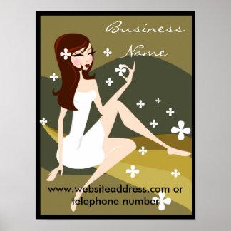 Modieuze Dame - PromotiePoster/Druk Poster