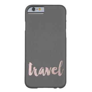 "modieuze elegante faux nam gouden tekst ""reis "" barely there iPhone 6 hoesje"
