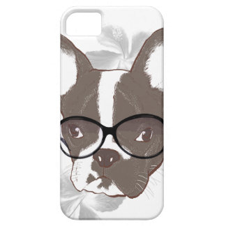 Modieuze Franse buldog Barely There iPhone 5 Hoesje