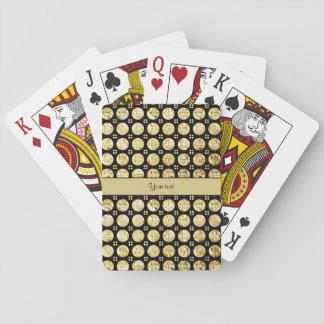 Modieuze Gouden Knopen Faux Speelkaarten