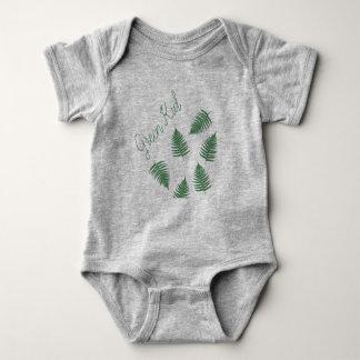 Modieuze Groene Bodysuit van het Baby van de Varen