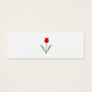 Modieuze Heldere Rode Tulp Mini Visitekaartjes