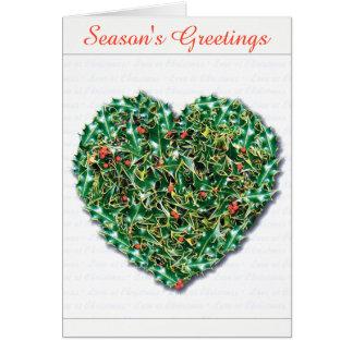 Modieuze romantische Kerstmiskaart van het Hart Kaart