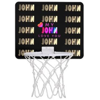 Modieuze, Romantische Mand voor John Mini Basketbalring