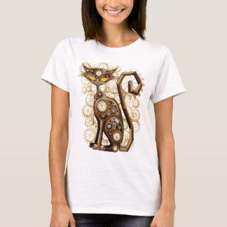 Modieuze surreal Kat Steampunk T Shirt