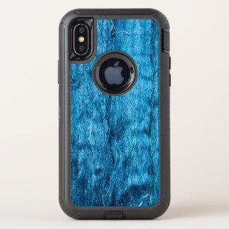 Modieuze vers Geverfte Blauwe Met de hand gemaakte OtterBox Defender iPhone X Hoesje