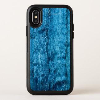 Modieuze vers Geverfte Blauwe Met de hand gemaakte OtterBox Symmetry iPhone X Hoesje