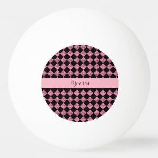 Modieuze Zwart & Roze schittert Controleurs Pingpongbal