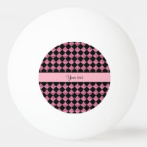 Modieuze Zwart & Roze schittert Controleurs Pingpongballen