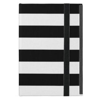 Modieuze Zwart-witte Horizontale Strepen iPad Mini Hoesje