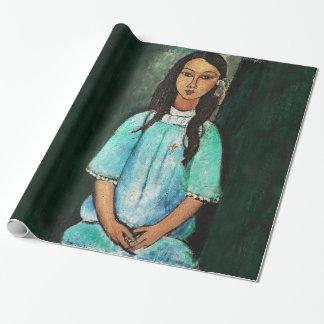 Modigliani Alice Vintage Fine Art Painting Cadeaupapier