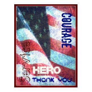 Moed-held-dank u het Briefkaart van de Dag van