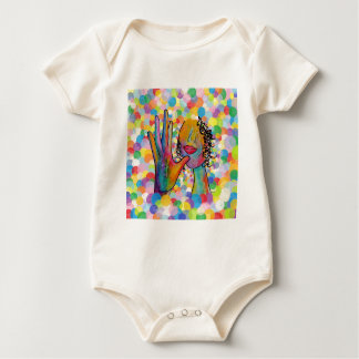 Moeder ASL op een Achtergrond van de Bel Baby Shirt