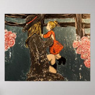 Moeder en Dochter op het Boerderij Poster
