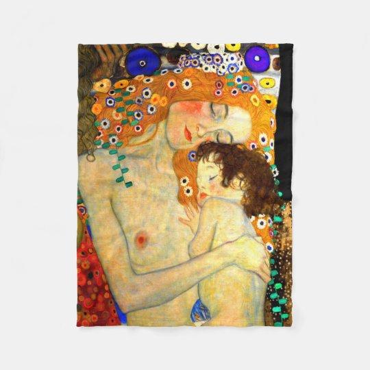 Wonderlijk Moeder en Kind door de Jugendstil van Gustav Klimt Fleece Deken AA-42
