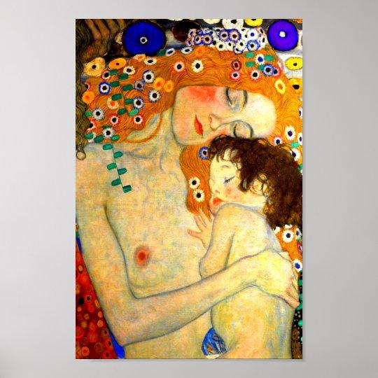 Verbazingwekkend Moeder en Kind door de Jugendstil van Gustav Klimt Poster | Zazzle.nl UO-15