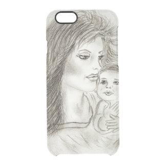 Moeder en kind doorzichtig iPhone 6/6S hoesje