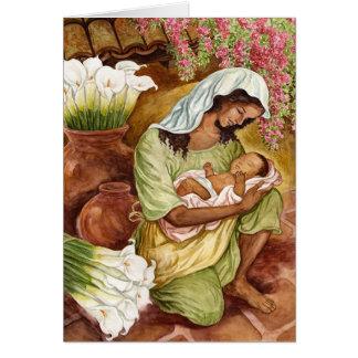 Moeder en Kind met Calla Lelies Kaart