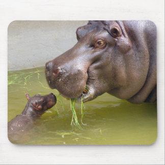 Moeder Hippo met Baby Muismat