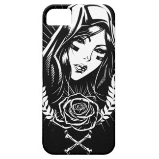 Moeder Mary Chicano Art Barely There iPhone 5 Hoesje