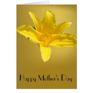 Moeder - Reuze Gele Lelie Briefkaarten 0